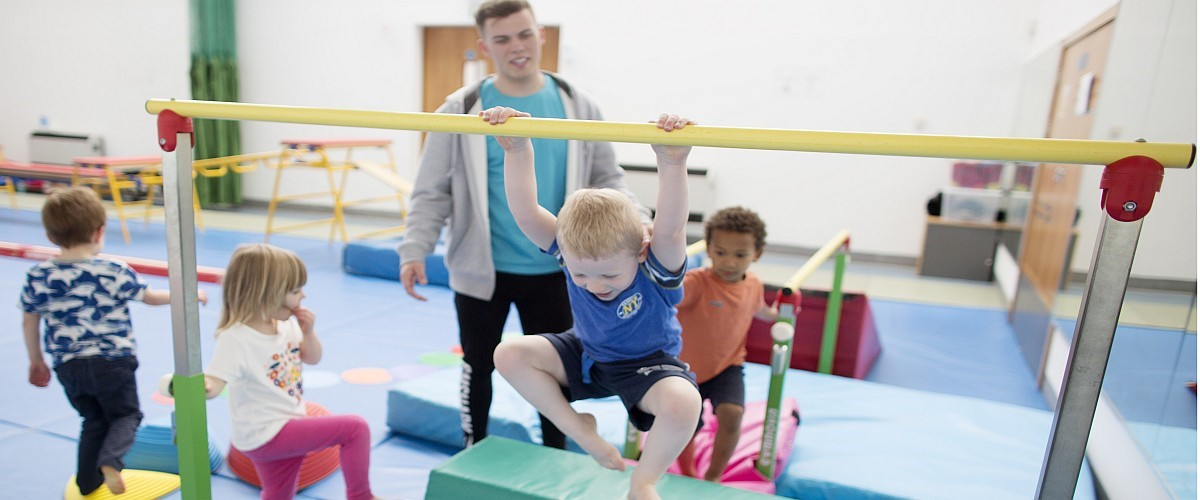 Children at Gymnastics Class